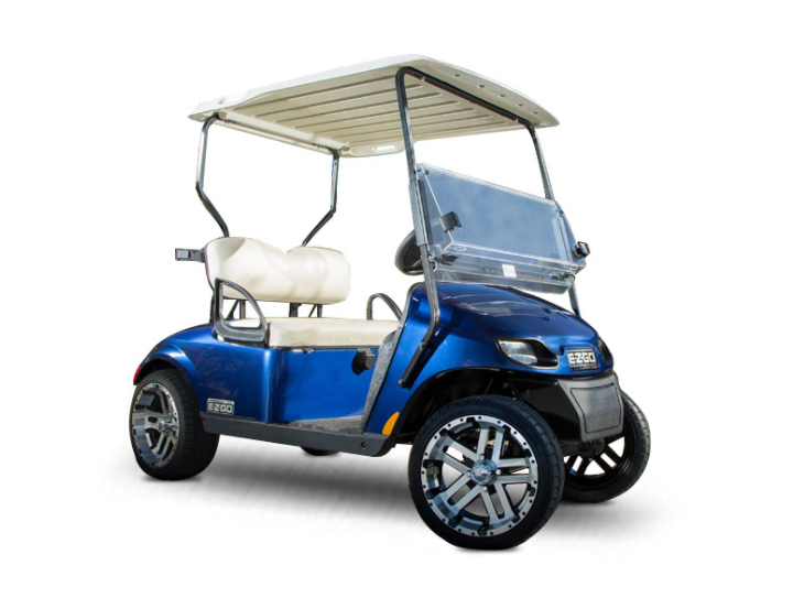 e-z-go golf cart blue